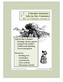 Colonial Life Lesson 1 - Life in all 13 Colonies