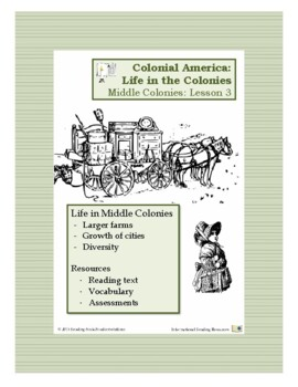 Colonial Life Lesson 3 - Life in the Middle Colonies