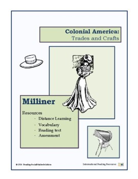 Colonial Trades Lesson 3 -  Milliner
