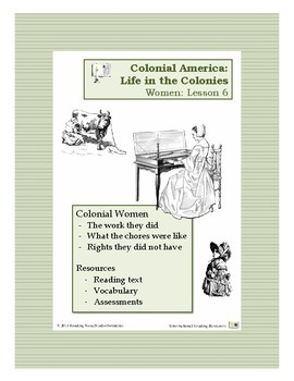 Colonial Life Lesson 6 - Life for Women