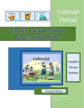Colonial Taxation without Representation Game with Persuas
