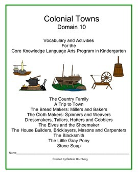 Colonial Towns--Engage NY--Common Core--Kindergarten--Domain 10