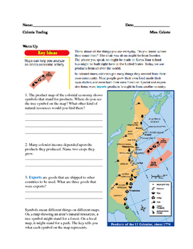 Colonial Trade Mapping Activity