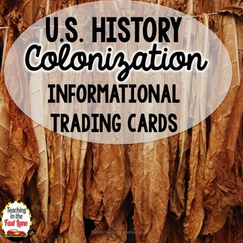 Colonization of America Informational Trading Cards (U.S.