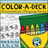 Color-A-Deck:  Articulation Playing Cards for K, G, J, and TH