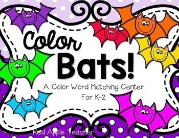 FREEBIE--Color Bats!--A Color Word Matching Center for K-2