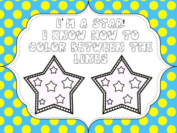 Color Between The Lines, Coloring / Drawing In Award / Cer