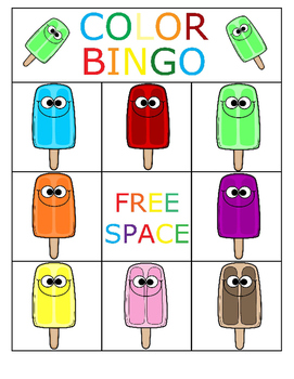 Color Bingo (Beginner)