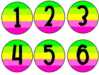 Color Block Numbers