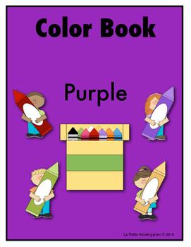 Color Book Emergent Reader:  Purple