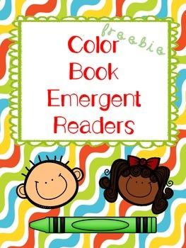Color Books Emergent Readers Freebie