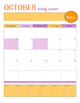 Color Burst 10 Month School Calendar