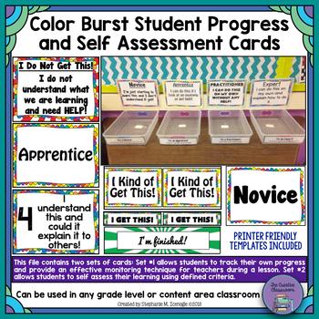 Color Burst Student Progress and Self-Assessment/Formative