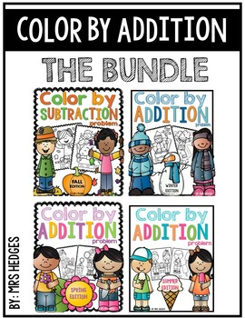 Color By Addition Problem-THE BUNDLE