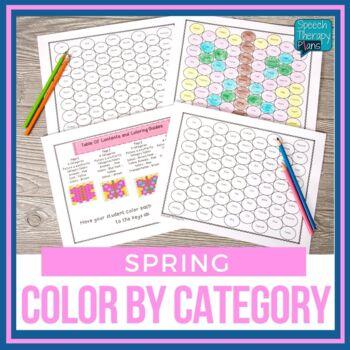 No Prep Color By Category - Spring
