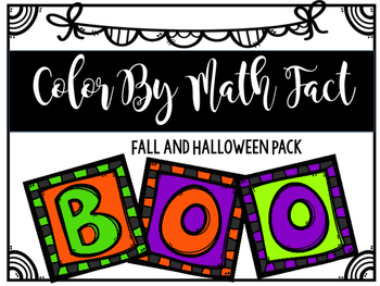 Color By Math Fact: Fall/Halloween Edition
