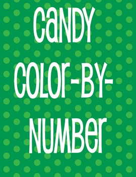 CHRISTMAS CANDY Color-By-Number