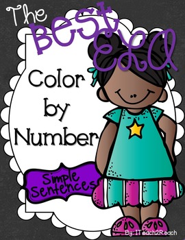 Color By Number ELA Simple Sentences