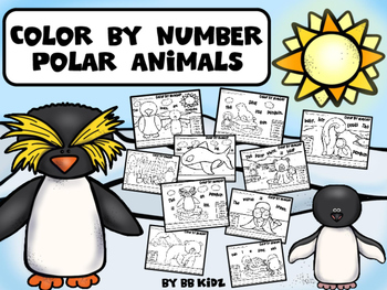 Color By Number Polar Animals / Winter Theme {Color and un