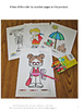 Beach Fun Color by Number Coloring Pages NO PREP Worksheet