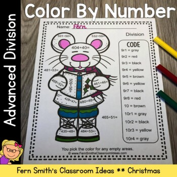 Color By Numbers Christmas Critters Advance Division