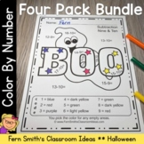 Color By Numbers Halloween Fun Addition Subtraction Multip