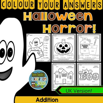 Colour By Numbers Halloween Fun Addition UK Version