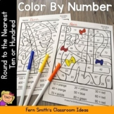 Color By Numbers Rounding to the Nearest Ten or Hundred Fun