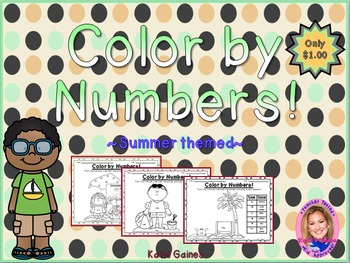 Color By Numbers: Summer themed!