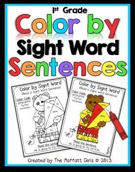 Color By Sight Word Sentences (First Grade Edition)