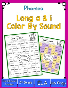 Color By Sound! {long A & I phonics printable}