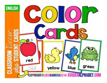 Color Cards- ENGLISH