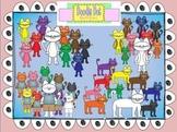 Color Cats Graphic Set