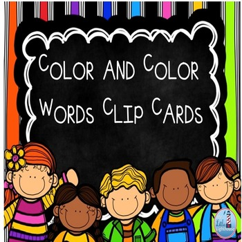 Color Clip Cards ( Color and Color Words included)