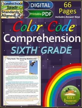Reading Comprehension Color-Coding Text Evidence - SERIES 2