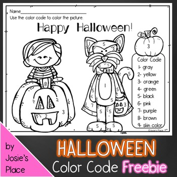 Color Code Halloween FREEBIE!