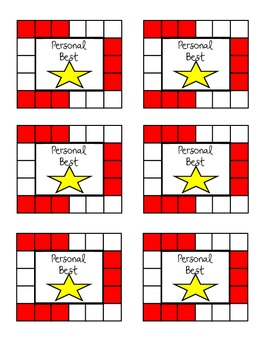 Color Coded Behavior Punch Card