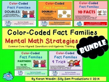 Fact Families Mental Math Strategies BUNDLE
