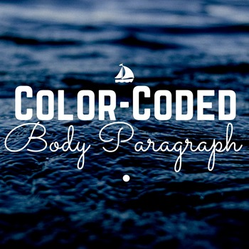 Color-Coded Sample Outline Body Paragraph