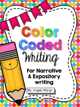 Color Coded Writing Reference Charts – Narrative and Infor