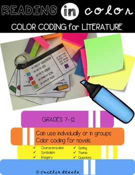 Color Coding with Post-Its: Literature Circles & Independe
