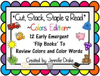 Color Word Flip Books