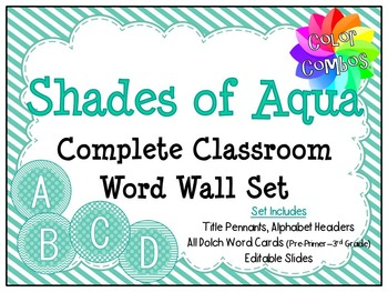 Color Combos Collection: Shades of Aqua Complete Classroom