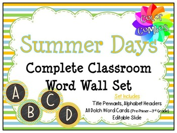 Color Combos Collection: Summer Day Classroom Complete Wor