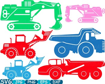 Color Construction Machines toy toys cars car clipart work