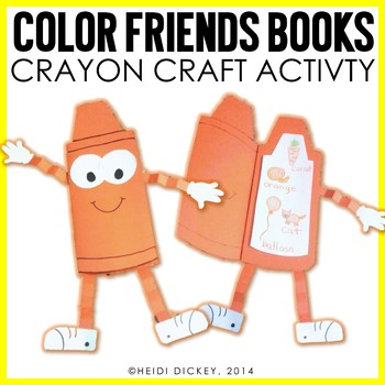 Color Crayon Craft & Activity Pack-A Color Book Craft for