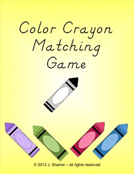 Color Crayon Matching Game