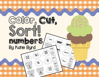 Color, Cut, Sort! Numbers 1-10