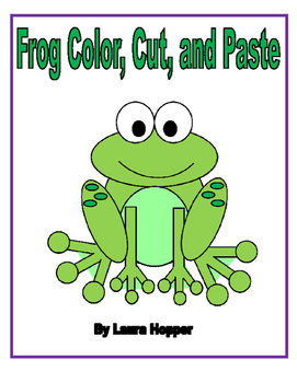 Color, Cut, and Paste Frog Craft