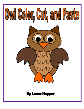 Color, Cut, and Paste Owl Craft